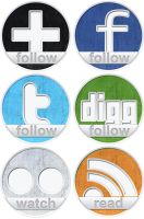 Freebie: 6 social icons by NatalyBirch