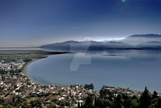 nafpaktos overview by AndreasStavropoulos