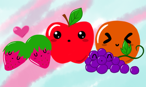Cute Fruits :D by Enouviaiei