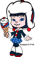Adorabeezle with her Ice Cream by Rapper1996