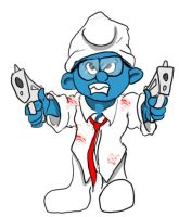 Smurfed 4 Dead: Brainy by DanMizelle