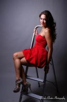 Lady in Red.... Killer Heels! by DalePhotography