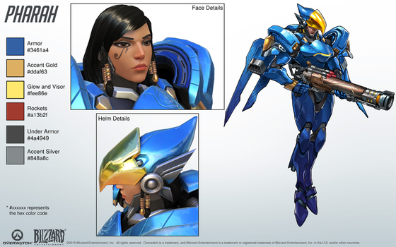 Pharah - Overwatch - Close look at model by PlanK-69