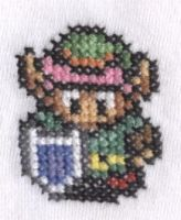 Link to the Past cross stitch by Lil-Samuu