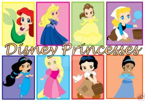 Disney Princesses (Manga) by kiki34