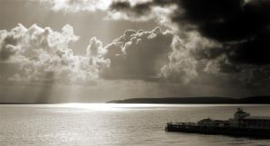 across the bay on a cloudy day by awjay