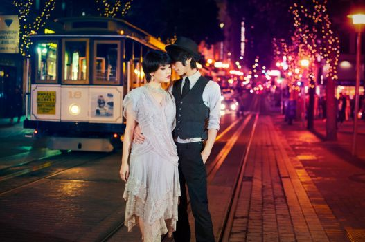 Golden City Love by MartinWongArts