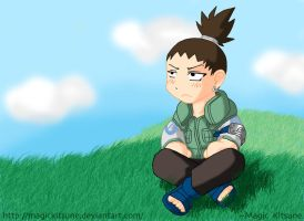 Shikamaru: Cloud Gazing by MagicKitsune