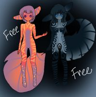 free adoptables 4 and 5 by adoptableluvr