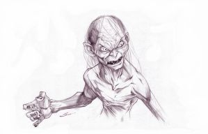 Gollum pencils by Sandoval-Art