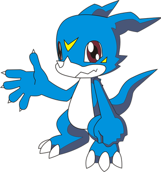 Veemon by 54tr10