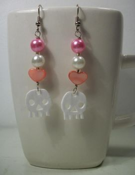 Skull and Heart Earrings by knacc