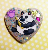 Resin Panda Pendant by TannerGrey