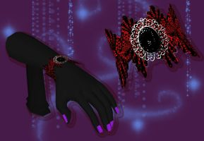 Gothic Lace Bracelet [XPS] by LexaKiness