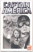 Captain America comic book sketch cover by smoothdaddyride