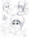 Random Hetalia Face Sketches by aliencatx