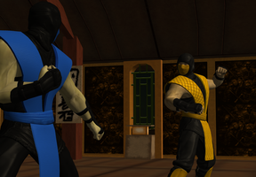 Sub-zero prepares for Scorpion by icemember