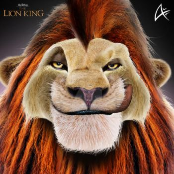 Adult Simba Portrait3 (COMMISSION)- The Lion King by Andersiano