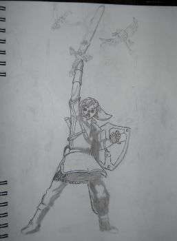 Skyward sword pic-unfinished by Linklover54