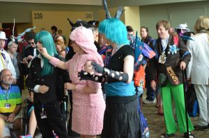 BronyCon 2013 - Chrysalis + Flufflepuff by AleriaVilrath