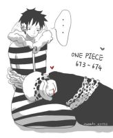 one piece 673 674 Law/Luffy by cloud0032000
