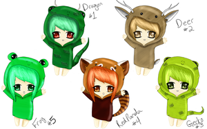 Hoodie Animal Adopts! 1/5 OPEN by CelesteCorinne