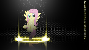 [Flame Ring Series] - Fluttershy 1920x1080 by forgotten5p1rit