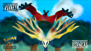 Pokemon X and Y: Xerneas and Yveltal Wallpaper by RicGrayDesign