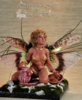 ooak golden african fairy by fairiesndreams