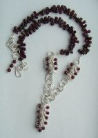 Sterling and Garnet Necklace by MarieCristine