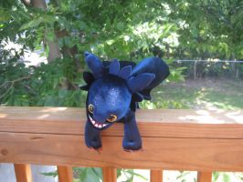 Toothless plushie :D by Snowfallghost