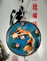 Large Koi Pond Necklace by NeverlandJewelry