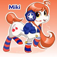 Vocaloid Pony: Miki by canarycharm