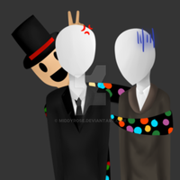 Slenderman And His Bros by TheMidnightPuppeteer
