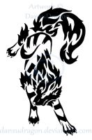 Tribal Leaping Arcanine Commission by DansuDragon