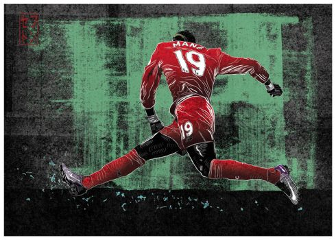 Sadio Mane by JackSephton