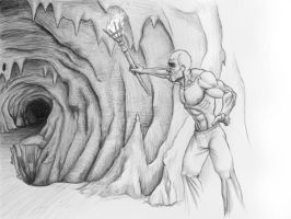The Cave - Sketch by Shraka
