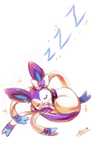 :commission: sleeping by kori7hatsumine