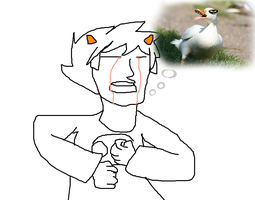 karkat being a duck,thinking about duck, crying by 420weedlord420