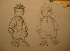 Frodo and Sam by Sketchphase