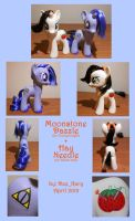 Ponysonas - Moonstone Dazzle and Hay Needle by DeeKary