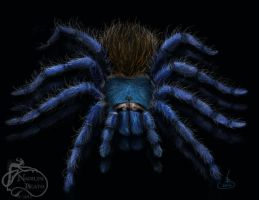 Greenbottle Blue Tarantula by NadilynBeato