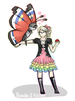 The Poketomix - Bismuth and Vivillon by Starrkeeper