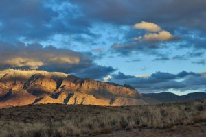 The Sandias by WastedSunRise