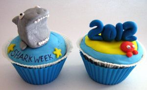 Shark Week Cupcake by VPofFantasyland