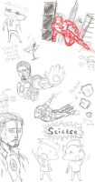 iron man doodles by RaveMoon