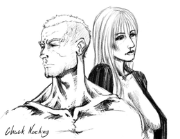 Manga Studio 5 Sketch: Man and Woman by Chuck-Nothing