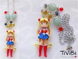 Sailor Moon | pendant necklace by tivibi