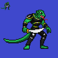 Lizardman sprite by scott910