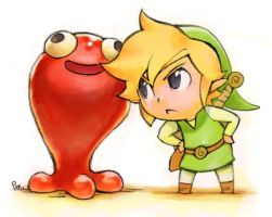 toon link drawing by Trickmaster12